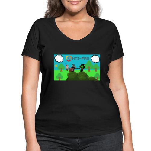 Maglietta Immagine Mario Anti-Pro - T-shirt ecologica da donna con scollo a V di Stanley & Stella