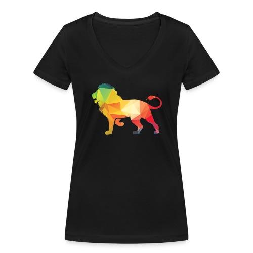lion - Vrouwen bio T-shirt met V-hals van Stanley & Stella