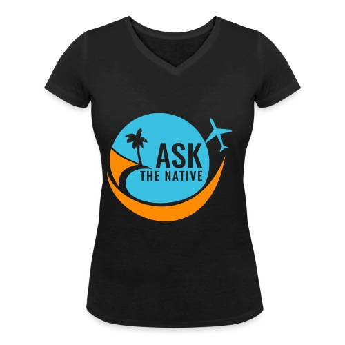 Ask the Native Original Logo - Vrouwen bio T-shirt met V-hals van Stanley & Stella