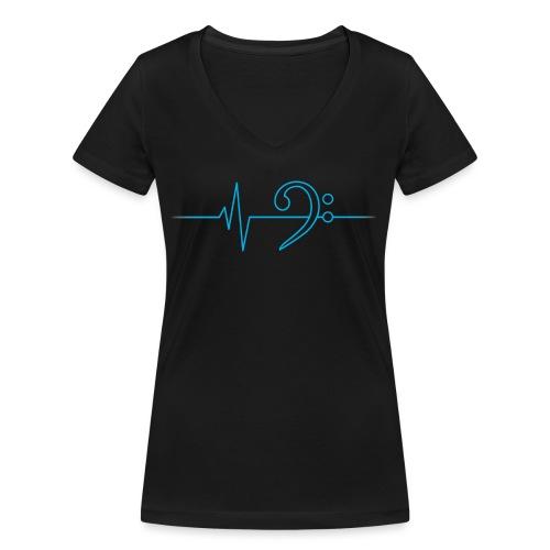 LowHeartBeat cyan - Frauen Bio-T-Shirt mit V-Ausschnitt von Stanley & Stella