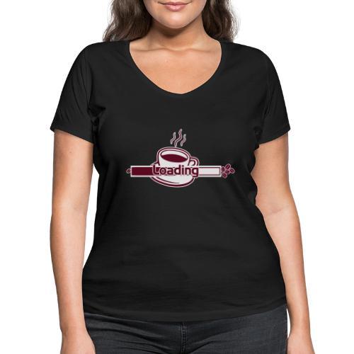 loading - Frauen Bio-T-Shirt mit V-Ausschnitt von Stanley & Stella