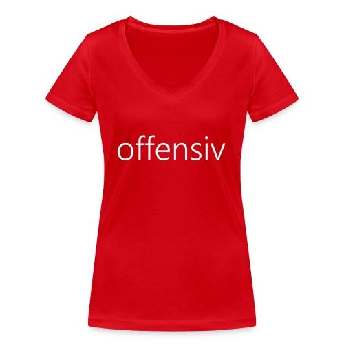 offensiv t-shirt (børn) - Økologisk Stanley & Stella T-shirt med V-udskæring til damer