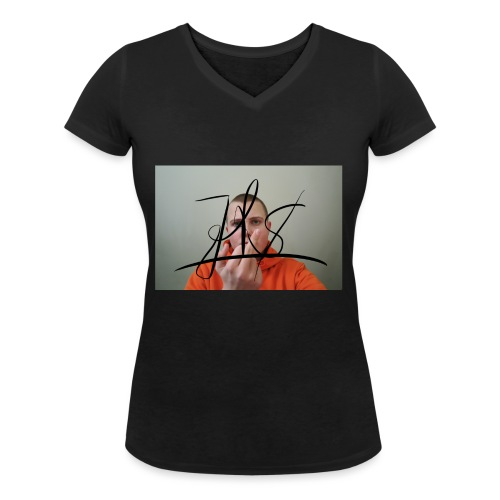 JiggyToby$woopFuck - Økologisk T-skjorte med V-hals for kvinner fra Stanley & Stella