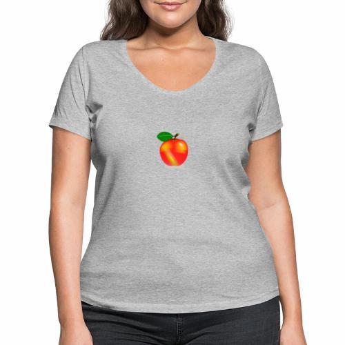 Apfel - Frauen Bio-T-Shirt mit V-Ausschnitt von Stanley & Stella