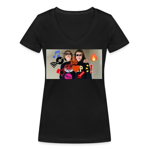 Coolrockskingen och Jojo - Ekologisk T-shirt med V-ringning dam från Stanley & Stella