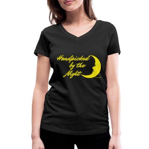 Handpicked design By The Night - Logo Yellow - Women's Organic V-Neck T-Shirt by Stanley & Stella