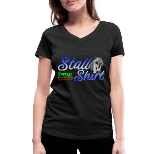 Special Edition Stall Shirt Reiten Geschenkidee - Frauen Bio-T-Shirt mit V-Ausschnitt von Stanley & Stella