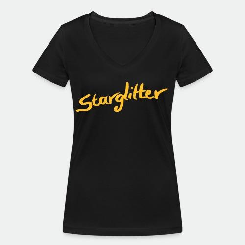 Starglitter - Lettering - Women's Organic V-Neck T-Shirt by Stanley & Stella