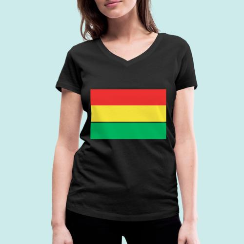 ROOD GEEL GROEN CARNAVAL - Vrouwen bio T-shirt met V-hals van Stanley & Stella