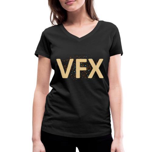 vfx - Frauen Bio-T-Shirt mit V-Ausschnitt von Stanley & Stella