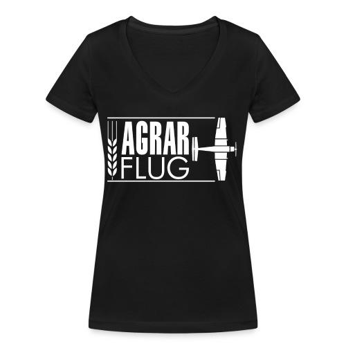 AGRARFLUG - Frauen Bio-T-Shirt mit V-Ausschnitt von Stanley & Stella