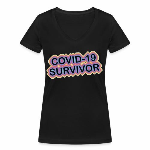 covic19survivor - Økologisk Stanley & Stella T-shirt med V-udskæring til damer