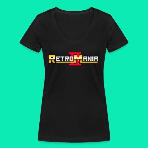 Retro Mania II - Logo - Frauen Bio-T-Shirt mit V-Ausschnitt von Stanley & Stella
