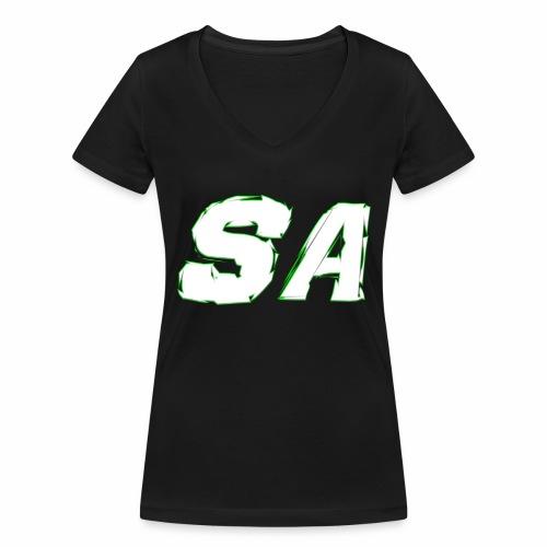 Vit SA Logo - Ekologisk T-shirt med V-ringning dam från Stanley & Stella