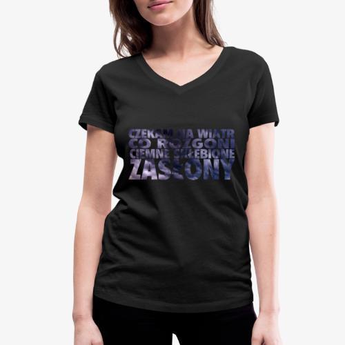 Czekam na wiatr - Ekologiczna koszulka damska z dekoltem w serek Stanley & Stella