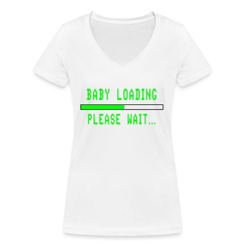 Baby Loading - Stanley & Stellan naisten v-aukkoinen luomu-T-paita