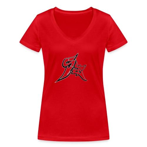 Sanddez - Camiseta ecológica mujer con cuello de pico de Stanley & Stella