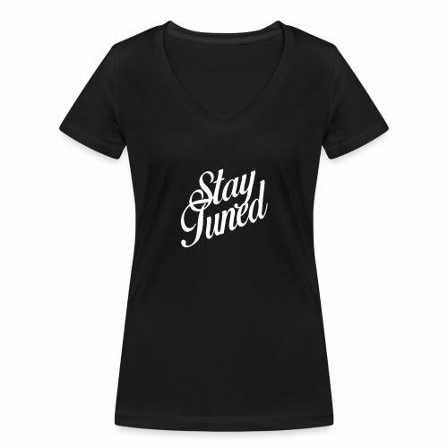 Restez à l'écoute - T-shirt bio col V Stanley & Stella Femme