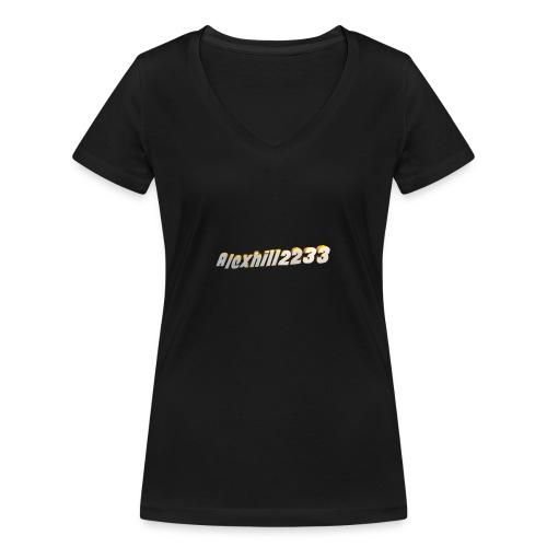 Alexhill2233 Logo - Women's Organic V-Neck T-Shirt by Stanley & Stella