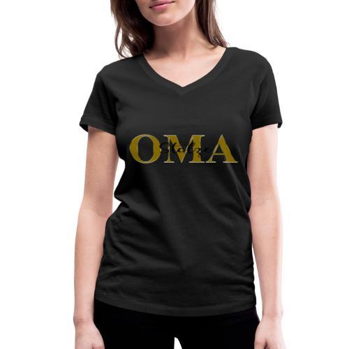 Stolze Oma Geschenk Muttertag - Frauen Bio-T-Shirt mit V-Ausschnitt von Stanley & Stella