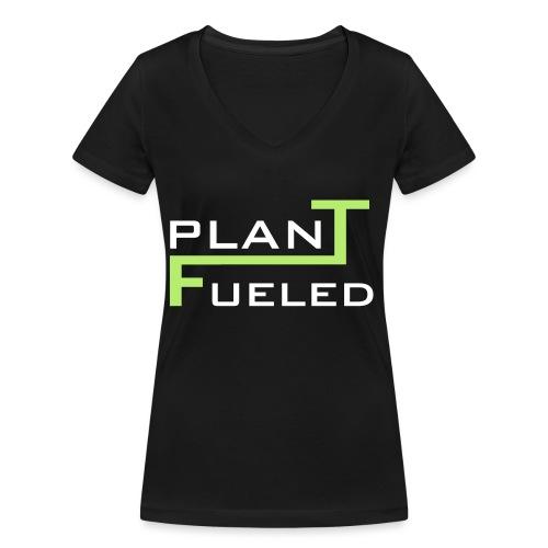 PLANT FUELED - Frauen Bio-T-Shirt mit V-Ausschnitt von Stanley & Stella