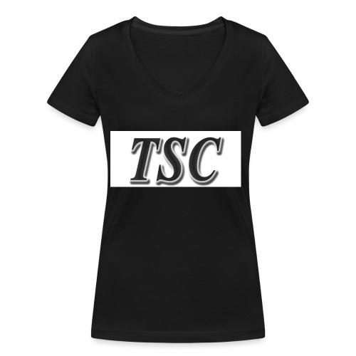 TSC Black Text - Women's Organic V-Neck T-Shirt by Stanley & Stella