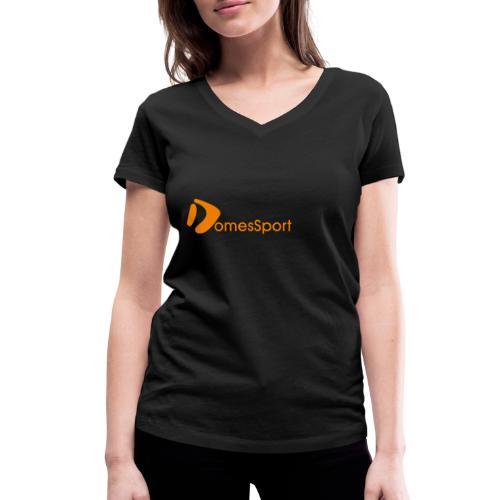 Logo DomesSport Orange noBg - Frauen Bio-T-Shirt mit V-Ausschnitt von Stanley & Stella