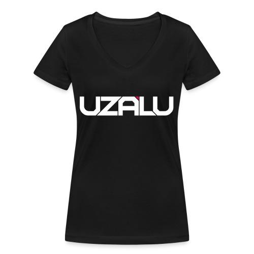 uzalu Text Logo - Women's Organic V-Neck T-Shirt by Stanley & Stella
