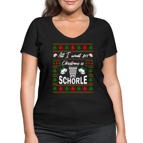 Ugly Christmas Schorle Pfälzer Weinschorle - Frauen Bio-T-Shirt mit V-Ausschnitt von Stanley & Stella