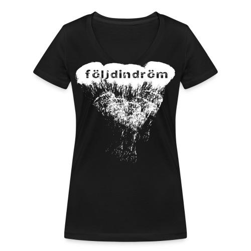tshirt cloud white png - Ekologisk T-shirt med V-ringning dam från Stanley & Stella