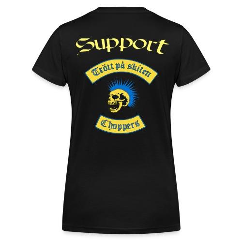 Supporter logga - Ekologisk T-shirt med V-ringning dam från Stanley & Stella