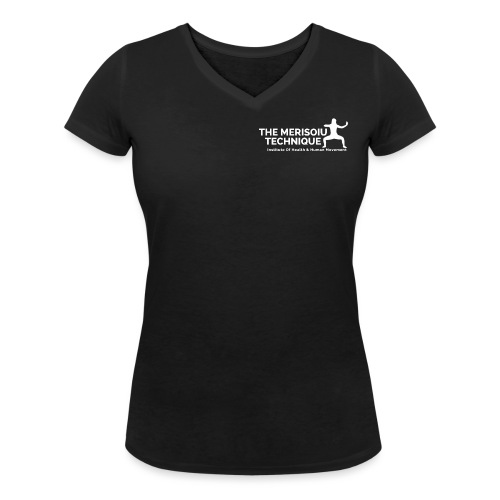MTI white square3 Copy Copy PNG - Women's Organic V-Neck T-Shirt by Stanley & Stella