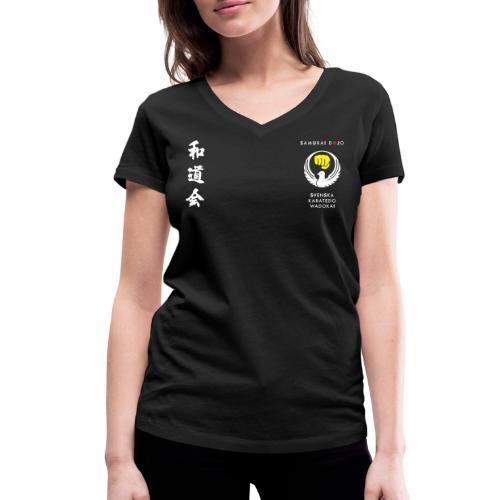 Samurai dojos klubbkläder - Ekologisk T-shirt med V-ringning dam från Stanley & Stella