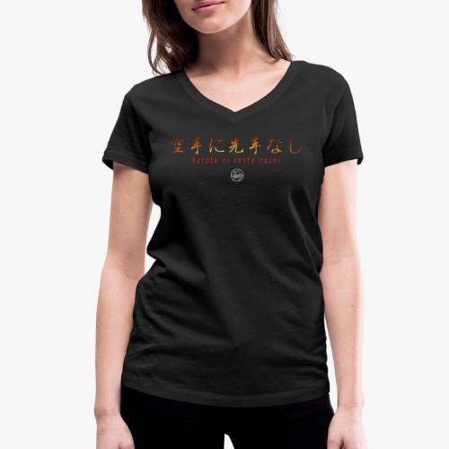 karate ni sente nashi version 1 - T-shirt bio col V Stanley & Stella Femme