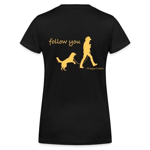 follow you gelb png - Frauen Bio-T-Shirt mit V-Ausschnitt von Stanley & Stella