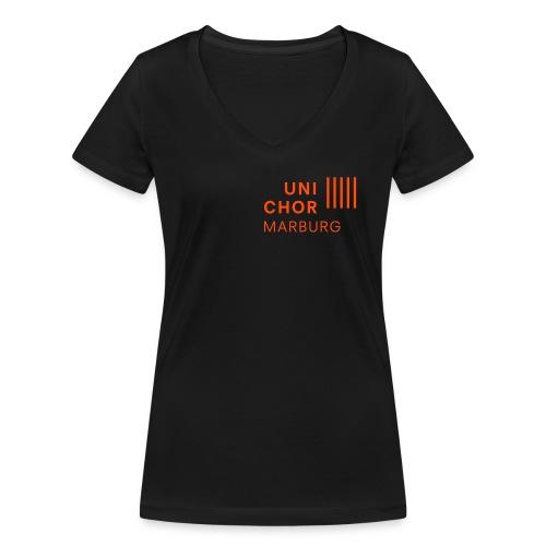 notenschluessel-sopran2 - Frauen Bio-T-Shirt mit V-Ausschnitt von Stanley & Stella