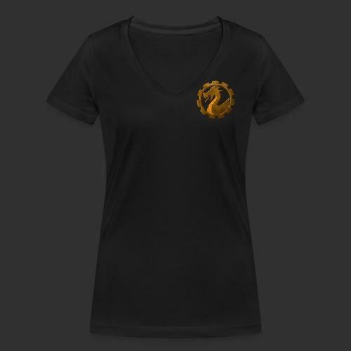 coin_7komma5_brust - Frauen Bio-T-Shirt mit V-Ausschnitt von Stanley & Stella