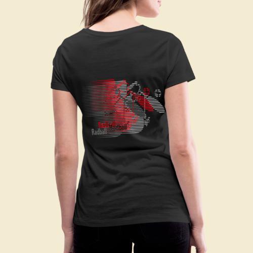 Radball | Earthquake Red - Frauen Bio-T-Shirt mit V-Ausschnitt von Stanley & Stella