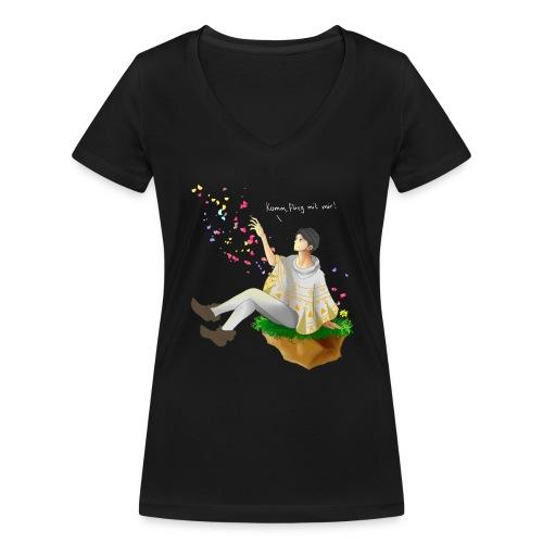 komm flieg mit mir ohne streifen png - Frauen Bio-T-Shirt mit V-Ausschnitt von Stanley & Stella