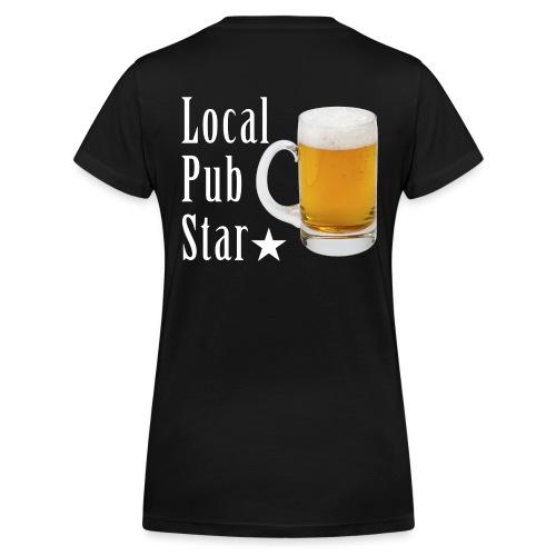 Lokalna gwiazda pubu - Ekologiczna koszulka damska z dekoltem w serek Stanley & Stella