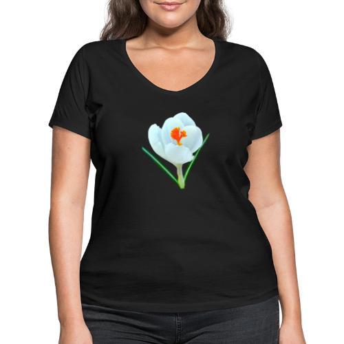 TIAN GREEN - Krokuss 2020 - Frauen Bio-T-Shirt mit V-Ausschnitt von Stanley & Stella