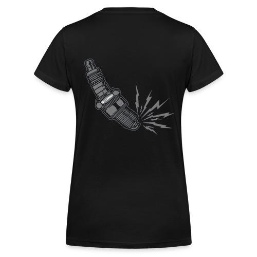Fehlzünder Kontrast-Pullover - Frauen Bio-T-Shirt mit V-Ausschnitt von Stanley & Stella