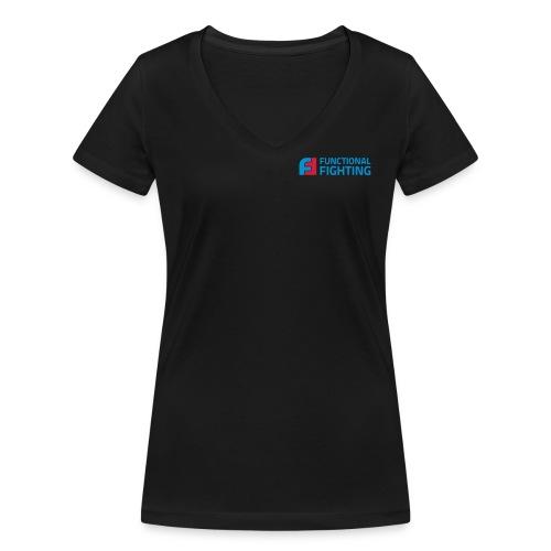 ff logo cmyk - Frauen Bio-T-Shirt mit V-Ausschnitt von Stanley & Stella
