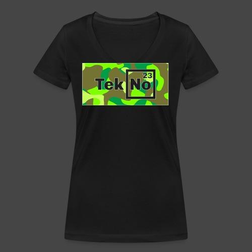 TEKNO 23 CAMOUFLAGE - T-shirt ecologica da donna con scollo a V di Stanley & Stella