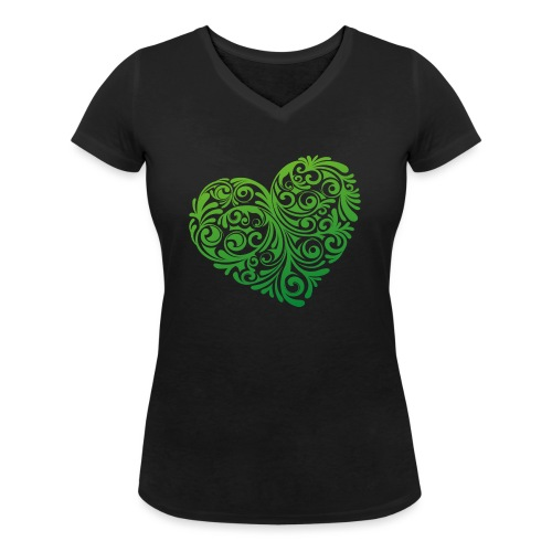 floral heartlogo png - Frauen Bio-T-Shirt mit V-Ausschnitt von Stanley & Stella