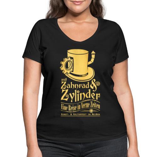 ZuZ 2017 + Brust- & Rückenmotiv - Frauen Bio-T-Shirt mit V-Ausschnitt von Stanley & Stella