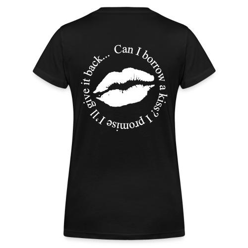 kiss - Økologisk Stanley & Stella T-shirt med V-udskæring til damer