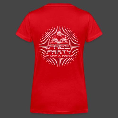 free party n'est pas un crime tekno 23 - T-shirt bio col V Stanley & Stella Femme