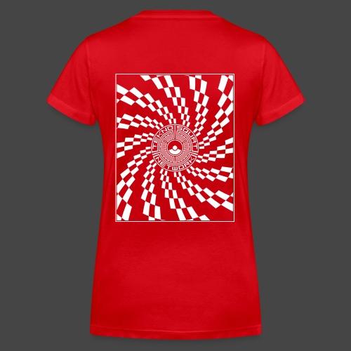 TEKNOSQUAT RÉSEAU SPIRAL - T-shirt bio col V Stanley & Stella Femme