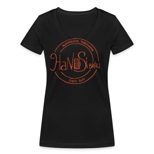Hanusilogo - Frauen Bio-T-Shirt mit V-Ausschnitt von Stanley & Stella